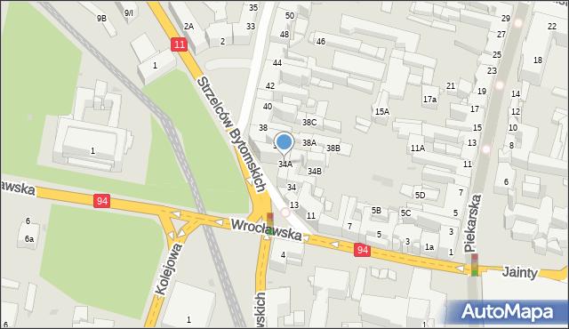 Bytom, Powstańców Warszawskich, 34A, mapa Bytomia