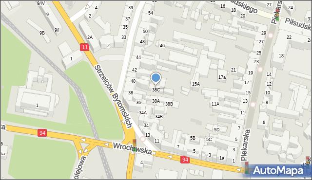Bytom, Powstańców Warszawskich, 38C, mapa Bytomia