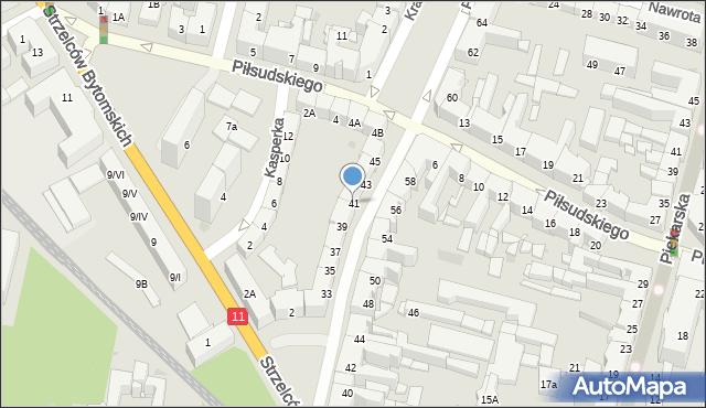 Bytom, Powstańców Warszawskich, 41, mapa Bytomia