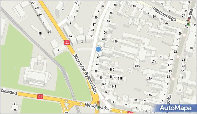 Bytom, Powstańców Warszawskich, 42, mapa Bytomia
