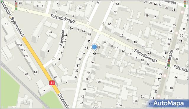 Bytom, Powstańców Warszawskich, 56, mapa Bytomia