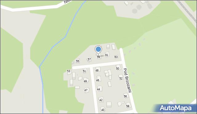 Bytom, Pod Brzozami, 59, mapa Bytomia