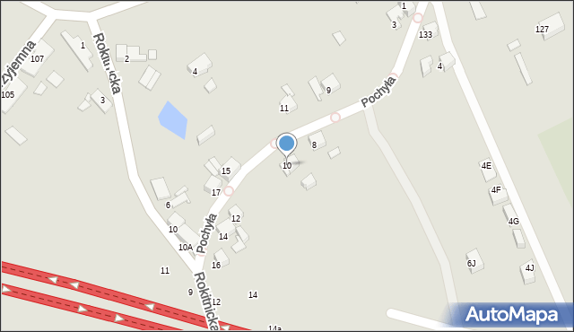 Bytom, Pochyła, 10, mapa Bytomia
