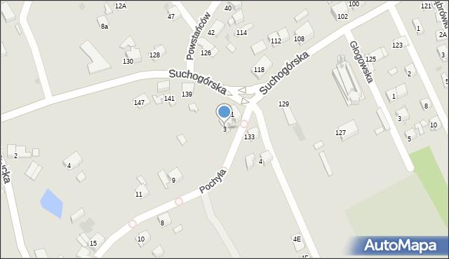 Bytom, Pochyła, 3, mapa Bytomia