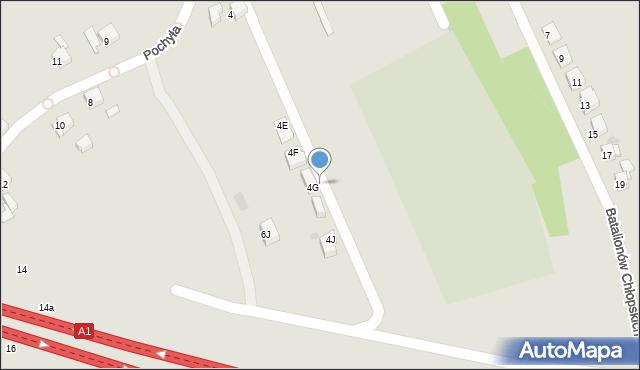 Bytom, Pochyła, 4h, mapa Bytomia