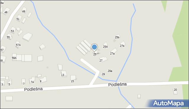 Bytom, Podleśna, 25, mapa Bytomia
