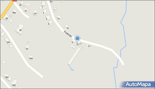 Bytom, Pokoju, 11, mapa Bytomia