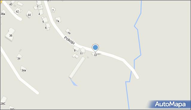 Bytom, Pokoju, 12, mapa Bytomia