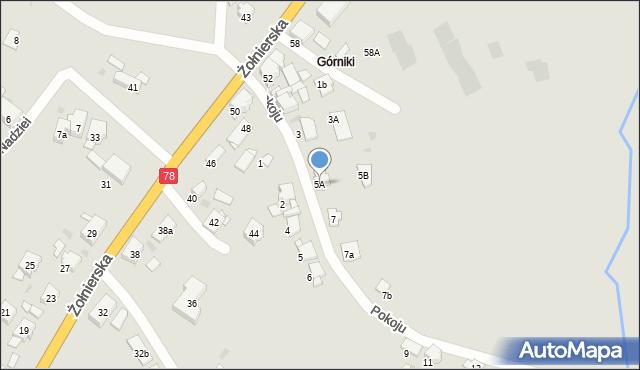 Bytom, Pokoju, 5A, mapa Bytomia