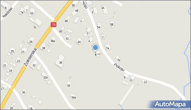 Bytom, Pokoju, 6, mapa Bytomia