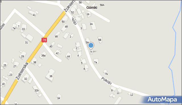 Bytom, Pokoju, 7, mapa Bytomia