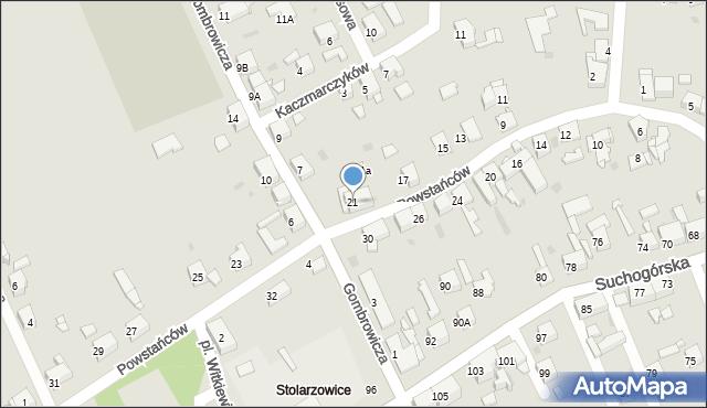 Bytom, Powstańców, 21, mapa Bytomia