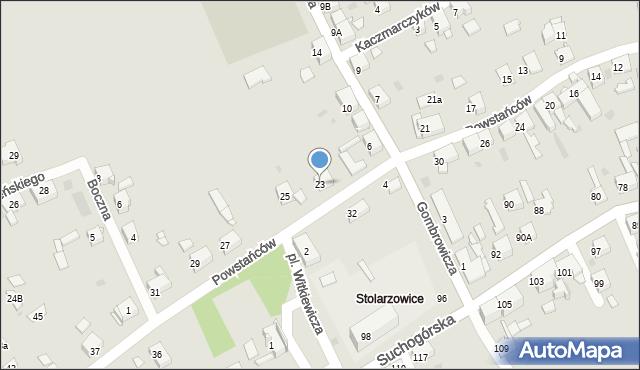 Bytom, Powstańców, 23, mapa Bytomia