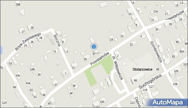 Bytom, Powstańców, 27, mapa Bytomia
