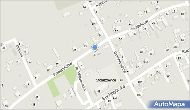 Bytom, Powstańców, 32, mapa Bytomia