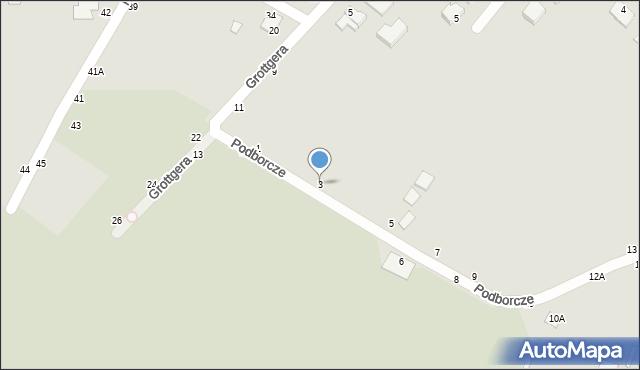 Chełm, Podborcze, 3, mapa Chełma