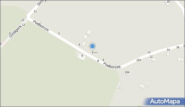 Chełm, Podborcze, 7, mapa Chełma