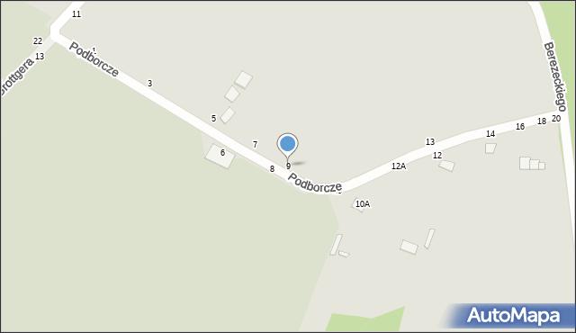 Chełm, Podborcze, 9, mapa Chełma
