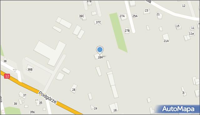 Chełm, Podgórze, 18A, mapa Chełma