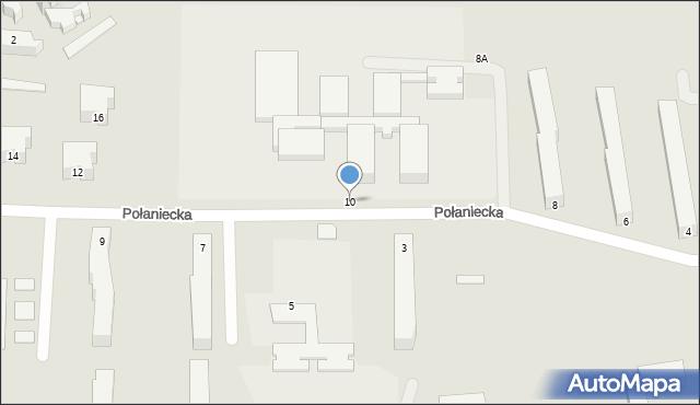 Chełm, Połaniecka, 10, mapa Chełma