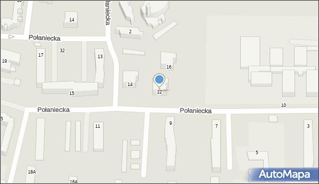 Chełm, Połaniecka, 12, mapa Chełma