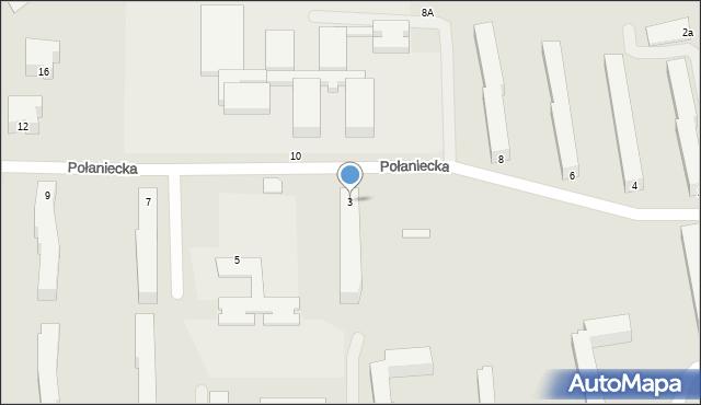 Chełm, Połaniecka, 3, mapa Chełma
