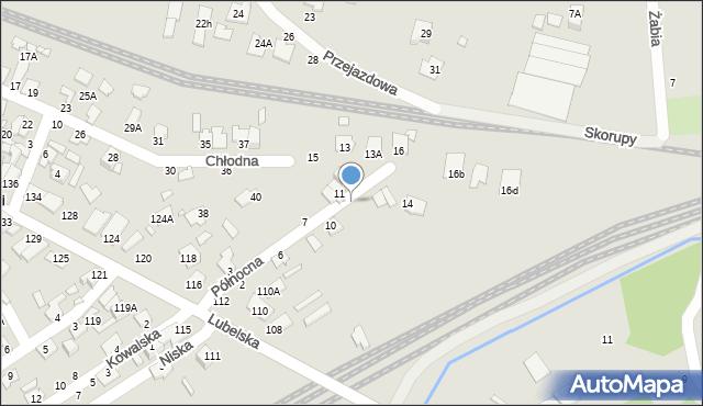Chełm, Północna, 12, mapa Chełma