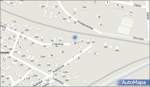 Chełm, Północna, 15, mapa Chełma
