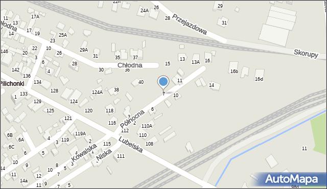 Chełm, Północna, 7, mapa Chełma
