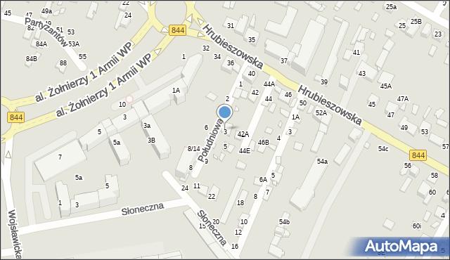 Chełm, Południowa, 3, mapa Chełma