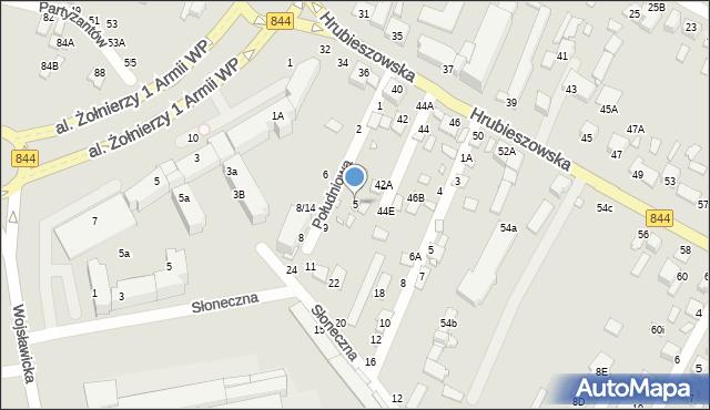 Chełm, Południowa, 5, mapa Chełma