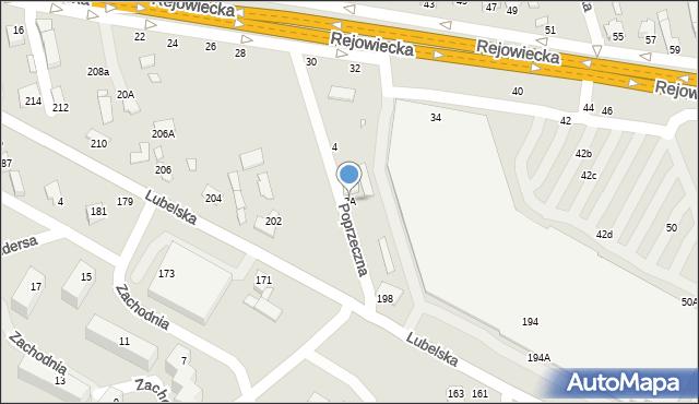 Chełm, Poprzeczna, 2A, mapa Chełma