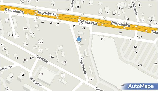 Chełm, Poprzeczna, 4, mapa Chełma