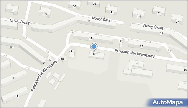 Chełm, Powstańców Warszawy, 6, mapa Chełma