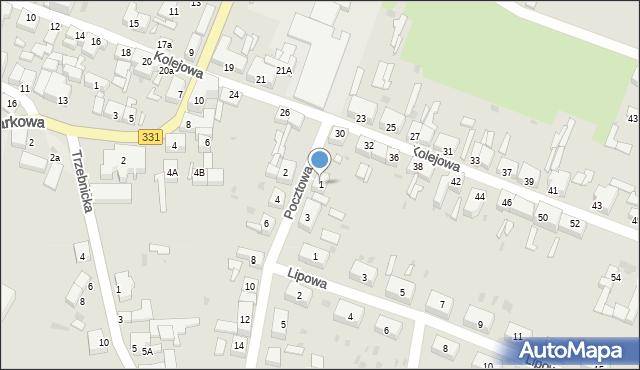 Chocianów, Pocztowa, 1, mapa Chocianów