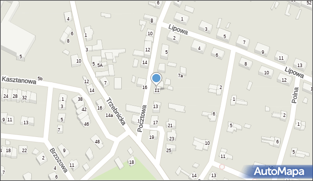 Chocianów, Pocztowa, 11, mapa Chocianów