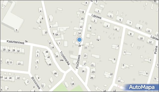 Chocianów, Pocztowa, 16, mapa Chocianów