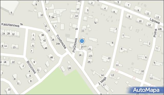 Chocianów, Pocztowa, 17, mapa Chocianów
