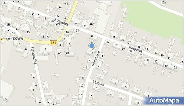 Chocianów, Pocztowa, 2, mapa Chocianów