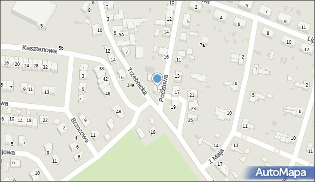 Chocianów, Pocztowa, 20, mapa Chocianów