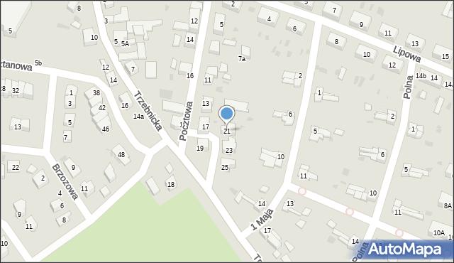 Chocianów, Pocztowa, 21, mapa Chocianów