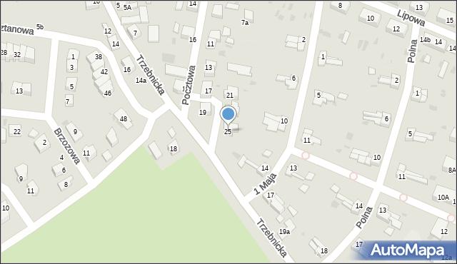 Chocianów, Pocztowa, 25, mapa Chocianów