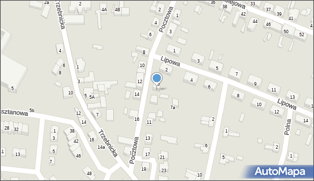 Chocianów, Pocztowa, 7, mapa Chocianów