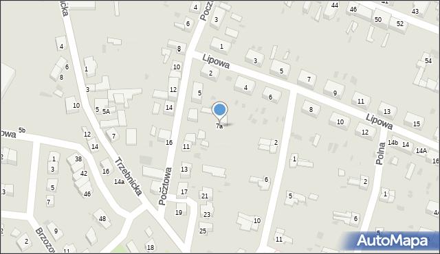 Chocianów, Pocztowa, 7a, mapa Chocianów