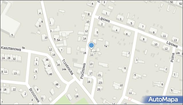 Chocianów, Pocztowa, 9, mapa Chocianów