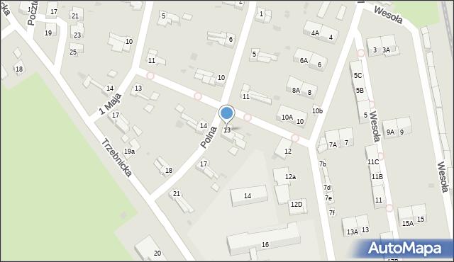 Chocianów, Polna, 13, mapa Chocianów