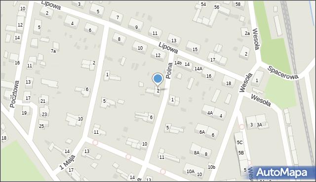 Chocianów, Polna, 2, mapa Chocianów