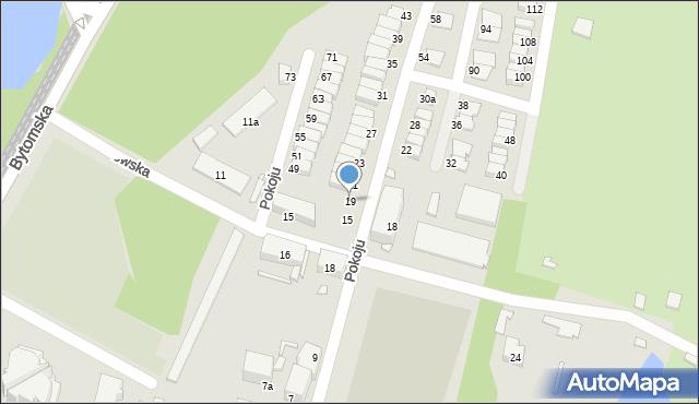 Chorzów, Pokoju, 19, mapa Chorzów