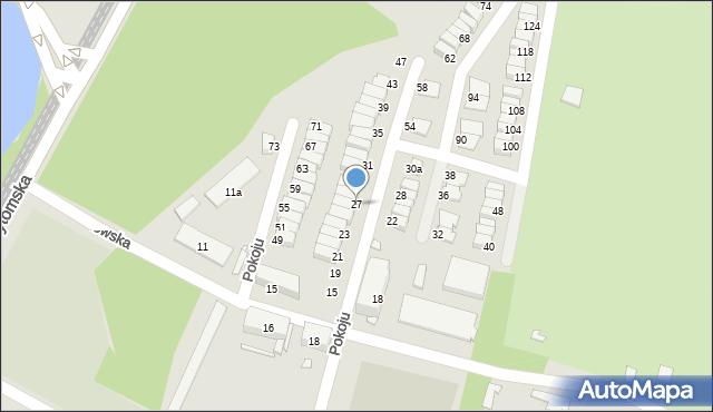Chorzów, Pokoju, 27, mapa Chorzów