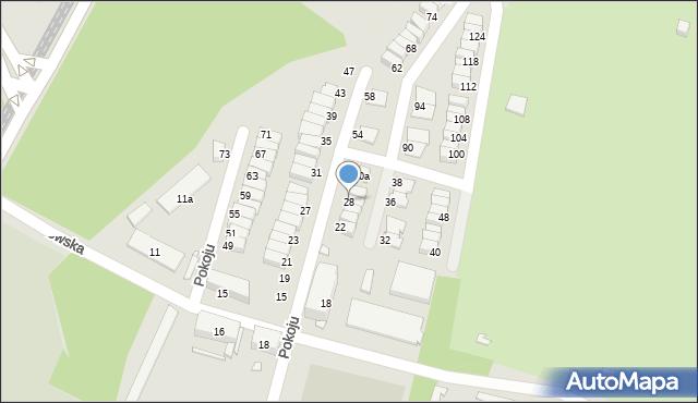 Chorzów, Pokoju, 28, mapa Chorzów